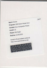 Panini 2020 Euro Cup Mosaic Phil Foden Auto card England Redemption