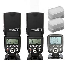 Yongnuo YN560-TX Wireless Controller for Canon + 2 pcs YN-560III Flash speedlite