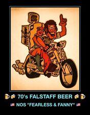 1970's FALSTAFF MO Fanny Fearless Miller Coors Bud LEMP Beer Vtg t-shirt iron-on
