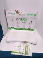 Nintendo Wii Fit Balance Board w/ Wii Fit & Wii Fit Plus Games Tested Fast Ship!
