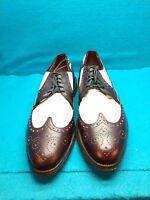 Allen Edmonds Lancaster Golf Shoes Mens Sz 11A  Wingtip Black & White