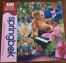 Christmas Bear Wishes 400 Piece Springbok Jigsaw Puzzle tree gifts FREE SH