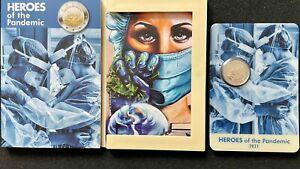 Malta 2 Euro Münze 2021 Helden der Pandemie in Coincard. Auflage nur 60.000!