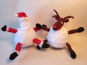KNITTING PATTERN Santa Claus Rudolph Snowball Chocolate Orange Cover Christmas