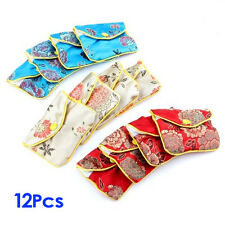 12 x Jewellery Jewelry Silk Purse Pouch Gift Bag Bags HOT B4M7