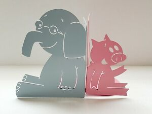 Elephant And Piggie Characters by Mo Willems Metal Bookends
