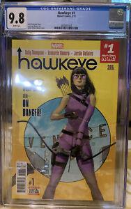 Hawkeye #1 (2017) CGC 9.8 White! 1st Kate Bishop series! 1st appearance Alloy!!