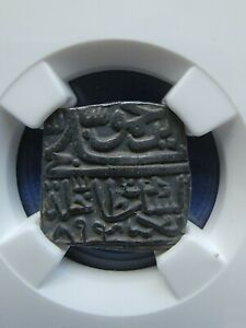 1489 KINGDOM OF INDIA MALWA SQUARE- GHIYAS SHAH NGC XF40 GREAT COIN ☆☆☆☆☆