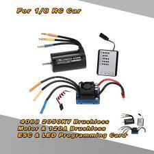 4068 2050KV Brushless Motor & 120A ESC & LED Programming Card for 1/8 RC Car