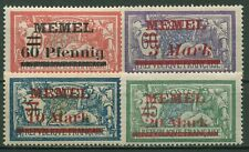 Memelgebiet 1921 Freimarken Frankreich mit Aufdruck 36/39 mit Falz