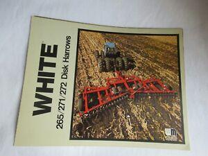 1989 White 265 271 272 disk harrows brochure