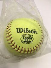 New Wilson Super Seam A9016 Sst Fast Pitch Yellow Ball