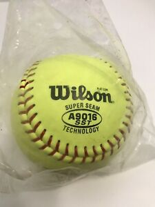NEW Wilson Super Seam A9016 SST Fast Pitch Yellow Ball