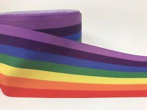 BY The Yard 3 Inch Rainbow Pride Grosgrain Ribbon Hair Bows Lisa
