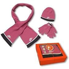 NIKE GIRLS HAT SCARF GLOVES 3 piece set 8-10years Medium GIFT BOXED NEW TAGGED