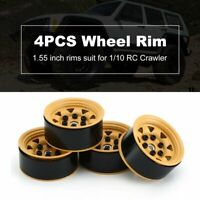AX515BWH RC Car Metal Mud-yellow Wheel Rim 4PCS 1.55in Beadlock Wheel Hub