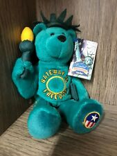 STATUE OF LIBERTY Limited Treasures Stuffed Teddy Bear New York Coin Quarter NWT