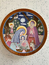 "Vintage Collectors Plate Die Geburt Christi Hedi Keller 9.5"" Konigszelt Bavaria"
