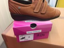 Ladies Light Brown Soft Leather Shoes Size 5