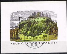Austria Nature Mountain Forest in Alps Souvenir Sheet 1985