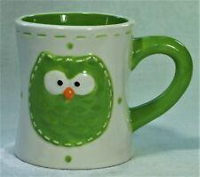 OWL Ceramic Coffee Tea Milo Mug Green 09563MUG New 9340536020532