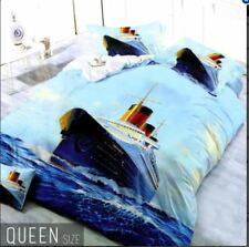Celebrity Collection Queen Size Cruise Ship 3D Bedding Set of 3
