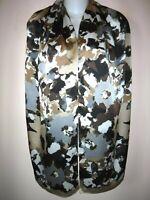 "ANNE KLEIN ART SHAWL Scarf Brown Tan Black Silver Ivory Rectangular 68 x 13"""
