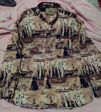 Field Tested By Outdoor Life Mens Button Down Duck Lab Shirt Long Sleeve Size Xl