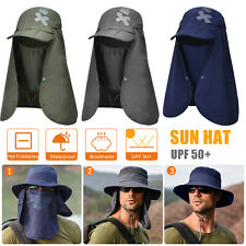 Men Women Boonie Sun Protection Hat Neck Face Flap Cap Windproof Hiking Fishing