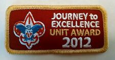 Boy Scouts BSA 2012 Journey to Excellence JTE Gold Unit Award Patch NEW!