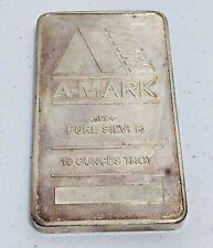 A- MARK 10 OUNCES TROY 999+ Fine Silver Bar