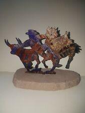 Unusual Stone & Metal Cowboy themed Ornament / sculpture
