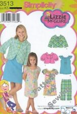 Pattern Simplicity Sewing Girl Lizzie McGuire Jacket Dress Top Sz 7-14 NEW
