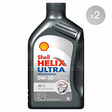 Shell Helix Ultra Professional AV-L 0w-30 Fully Synthetic Oil 2 x 1 Litres 2L