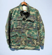 Vintage Camo USMC Jacket Shirt Camouflage Green Faded Military Erdl Short Small