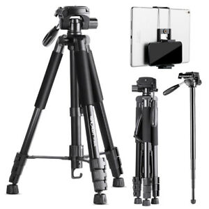 """K&F Concept 70"""" tripod with 3-way rotating head for camera DSLR phone ipad"""