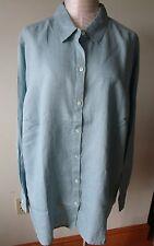 J.jill Linen Big Shirt 3x Chalk Blue