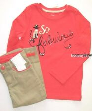 Gymboree Purrfectly Fabulous Outfit 6 New Top Shirt Cropped Pants Cat Girls Twin