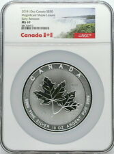 2018 Canadian Maple Leaf 10 oz Silver $50 Coin NGC MS69 Early Release Bullion