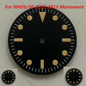 28.5MM Watch Dial With Green Luminous Watch For NH35/36 8215 2813 Movement Set