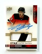 NICO HISCHIER 2019-20 Upper Deck Premier Star AUTO PATCH 14/49 AS-NH 19-20