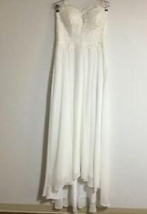 Wedding Dress for Bride, Beach Vintage A Line Backless Boho Lace up Size 12