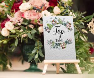 Rustic wedding wild flowers wreath greenery leaf 10 15 20 25 30 TABLE NUMBERS A6