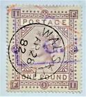 1878 Victoria pound brown-lilac used maltese cross wmk super example SG129