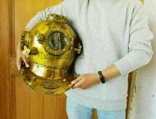 Antique Brass Diving Helmet Scuba Sea Boston London Navy Deep Divers Boston Gift