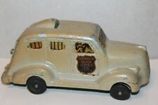 VINTAGE 1930's ARMORED MOTOR SERVICE CO. CAST METAL ARMORED CAR BANK