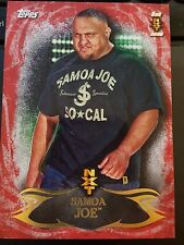 2015 Topps WWE Undisputed RED NXT #25 Samoa Joe RC