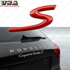 3D Metal Red S Logo Car Badge Emblem Sticker for Macan 911 718 Porsche Cayenne