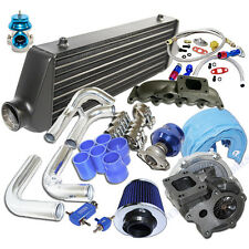 Turbo Kit T3/T4 Turbo + Black Intercooler fit 02 03 04 05 Audi A4 B6 1.8T