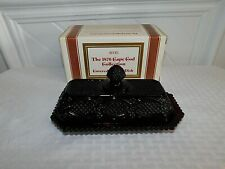 VINTAGE AVON RUBY CAPE COD COVERED BUTTER DISH-NIB